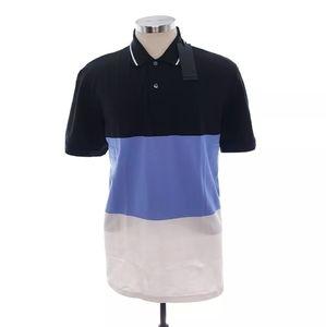Greyson Mens L Black Blue Short Sleeve Golf Polo